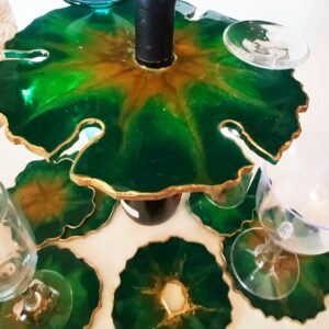 Resin Wine Butler and Coaster Sets