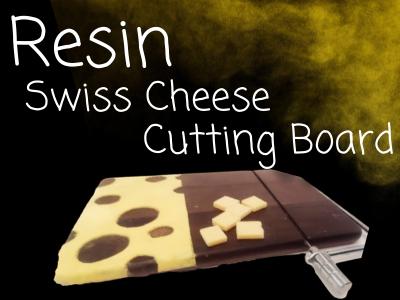 swiss cheese resin cutting board