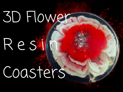 3d flower resin coasters